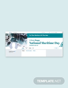 Free National Maritime Day Twitter Header Cover