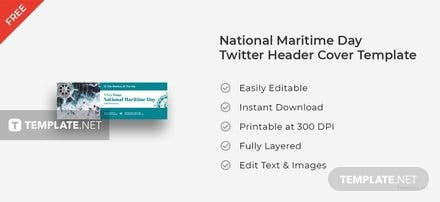 National Maritime Day Twitter Header Cover