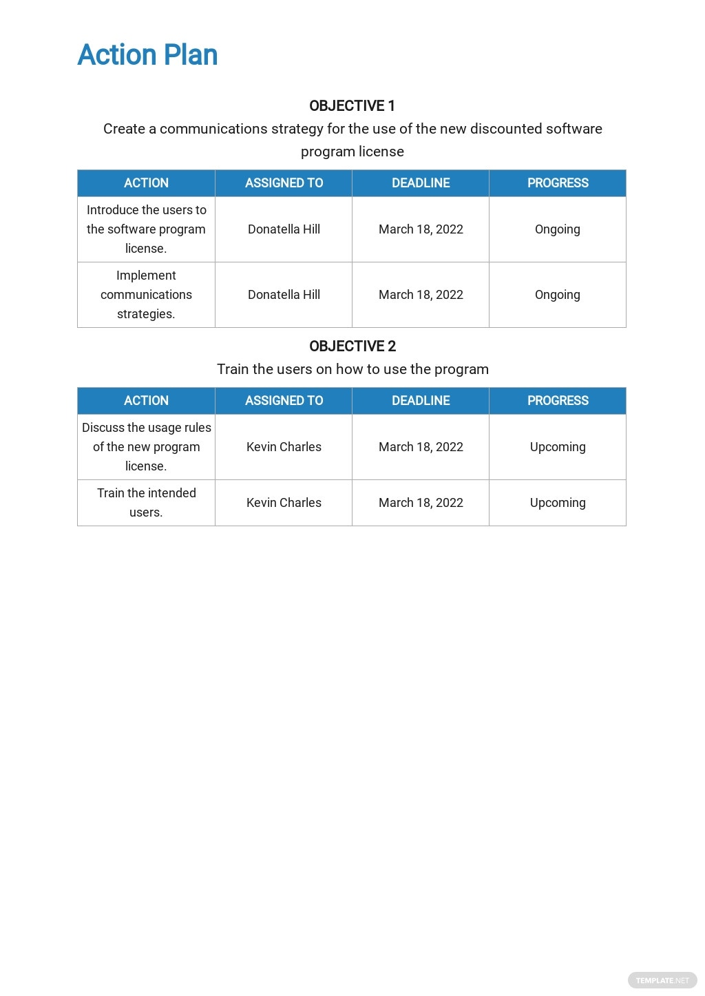 Communication and Training Plan Template 4.jpe