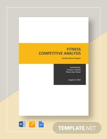 Fitness Competitive Analysis Template