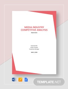 Media Industry Competitive Analysis Template