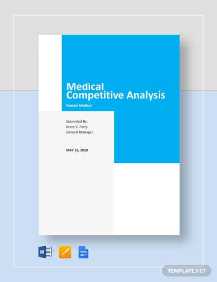 Medical Competitive Analysis Template