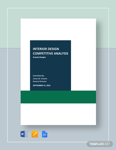 Interior Design Competitive Analysis Template