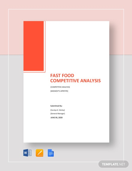 Fast Food Competitive Analysis