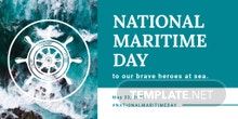 Free National Maritime Day Twitter Post
