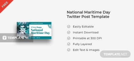 National Maritime Day Twitter Post