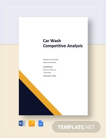 Car Wash Competitive Analysis Template