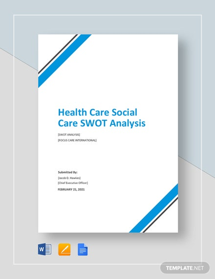 Health Care/Social Care SWOT Analysis Template