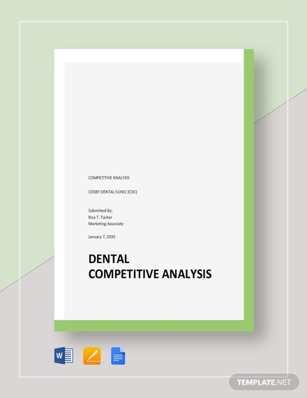 Dental Competitive Analysis Template