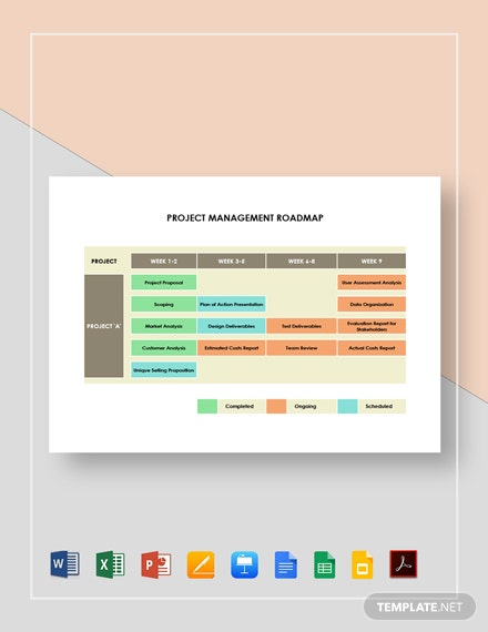 Project Management Roadmap Template