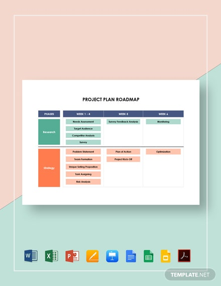 Project Plan Roadmap Template