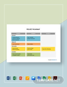 Simple Project Roadmap Template