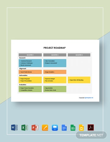 Free Simple Project Roadmap Template