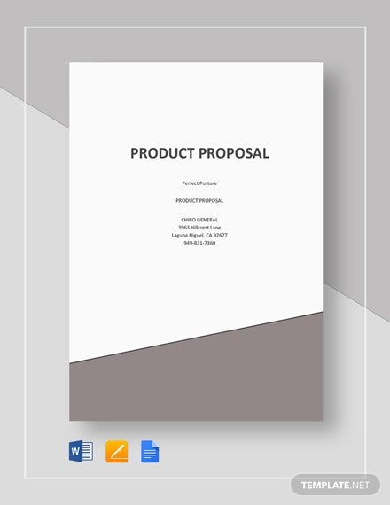 Free Sample Product Proposal Template