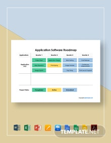 Application Software Roadmap Template