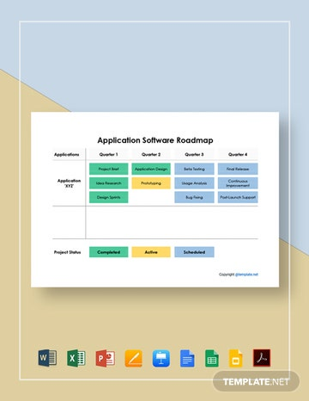 Application Software Roadmap Template