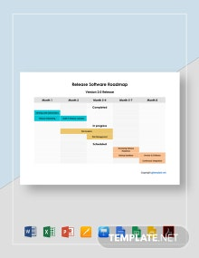 Release Software Roadmap Template