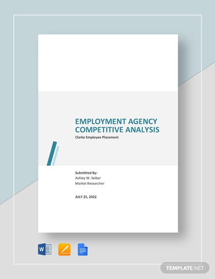 Employment Agency Competitive Analysis Template