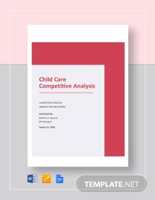 Child Care Competitive Analysis Template