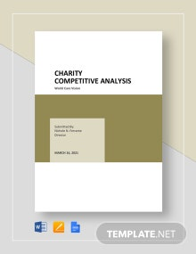 Charity Competitive Analysis Template