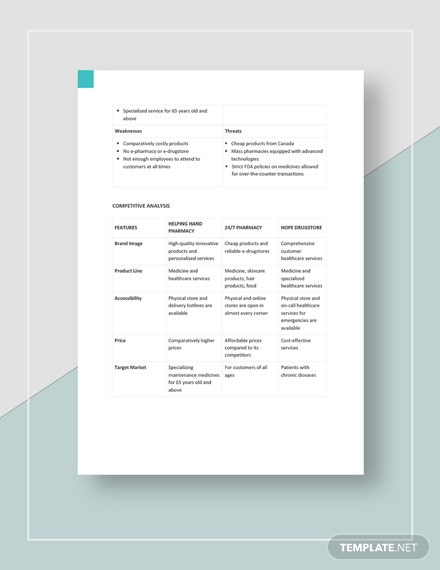 Pharmacy competitive analysis Download