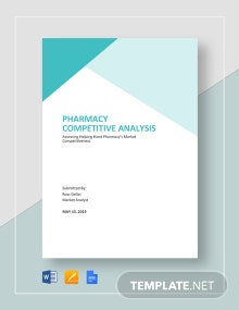 Pharmacy Competitive Analysis Template