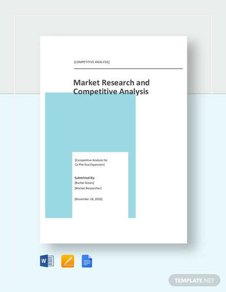 Market Research and Competitive Analysis Template