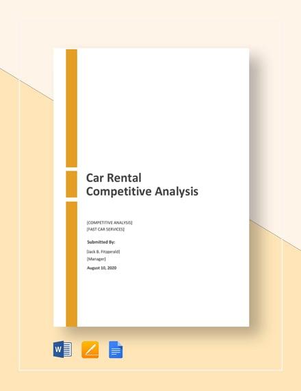 Car Rental Competitive Analysis
