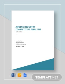 Airline Industry Competitive Analysis Template