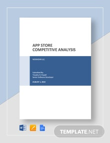 App Store Competitive Analysis Template
