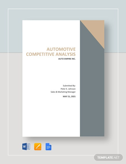 Automotive Competitive Analysis Template