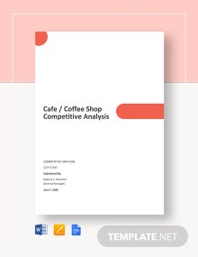 Cafe/Coffee Shop Competitive Analysis Template