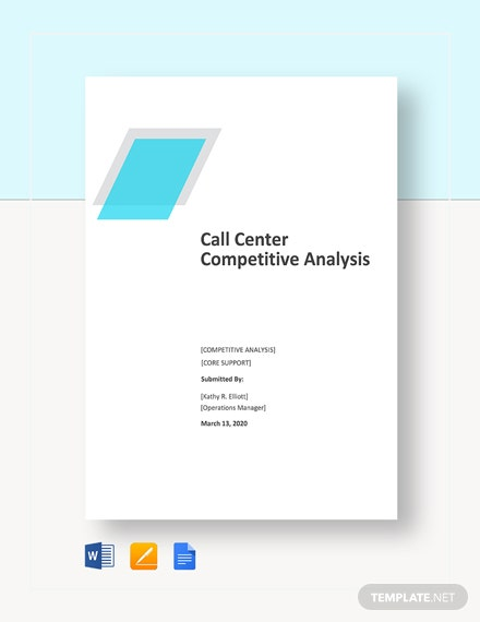 Call Center Competitive Analysis Template