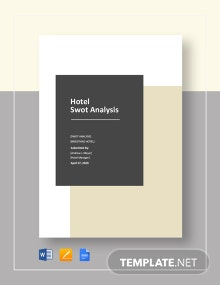 Hotel SWOT Analysis Template