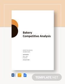 Bakery Competitive Analysis Template
