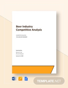 Beer Industry Competitive Analysis Template