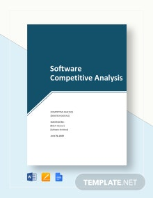 Software Competitive Analysis Template