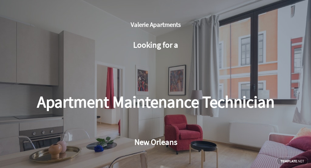 Apartment Maintenance Technician Job Description Template