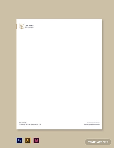 Law Firm Service Letterhead Template