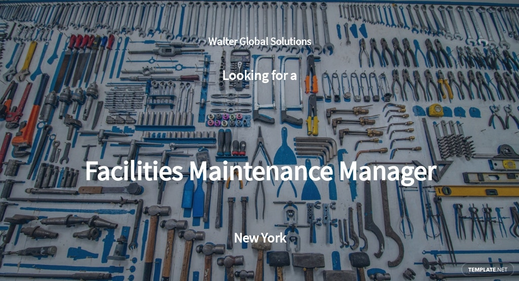 Facilities Maintenance Manager Job Description Template