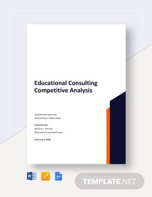 Educational Consulting Competitive Analysis Template