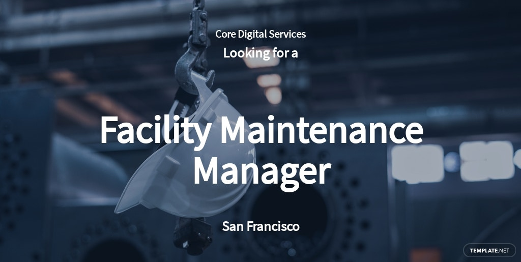 Facility Maintenance Manager Job Ad and Description Template