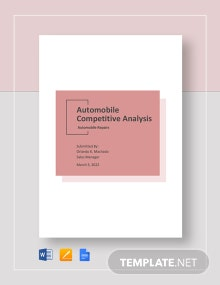 Automobile Competitive Analysis Template
