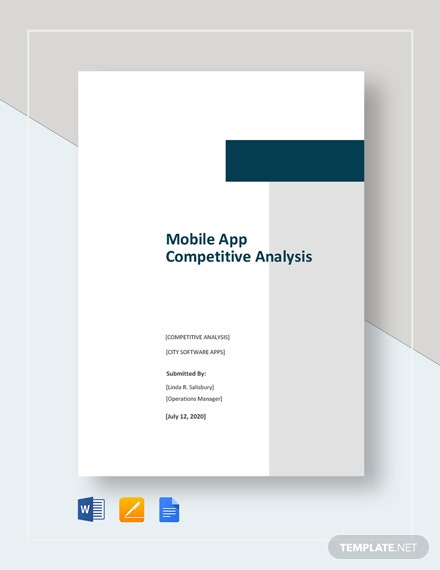 Mobile App Competitive Analysis Template
