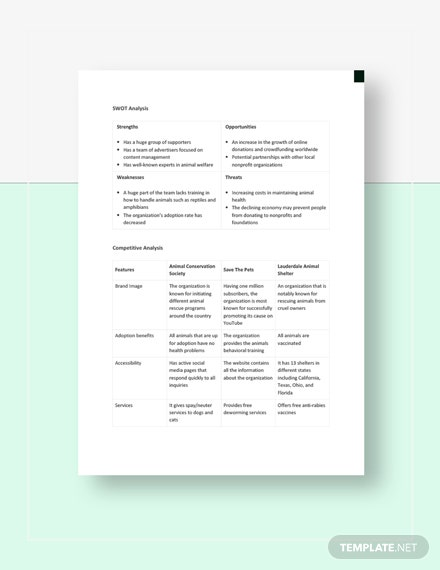 Download Nonprofit Competitive Analysis Template