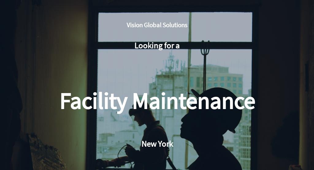 Facility Maintenance Job Description Template