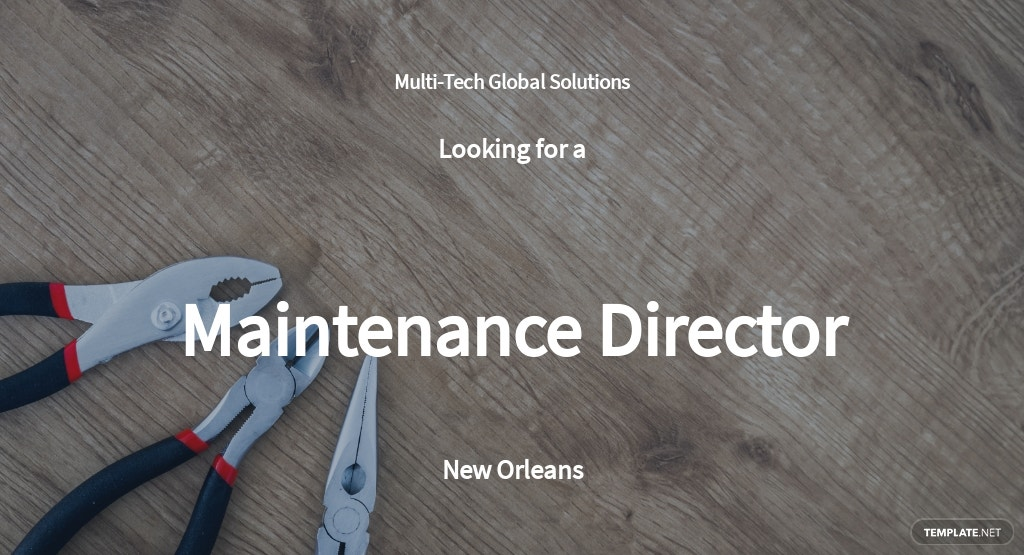 Maintenance Director Job Description Template