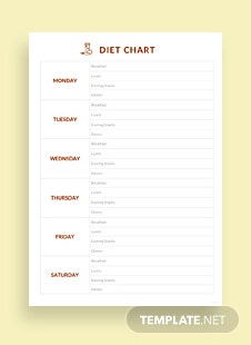 Diet Chart Template