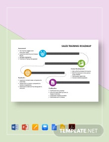 Sales Training Roadmap Template