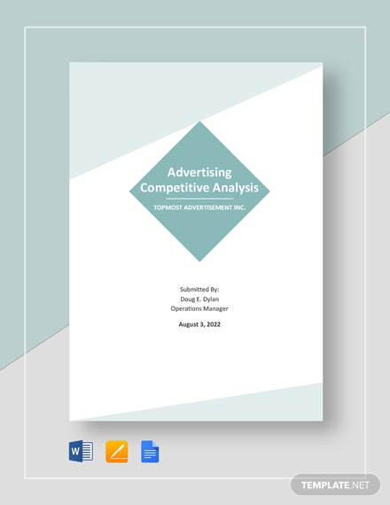 Advertising Competitive Analysis Template